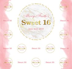 Sweet 16 Step and Repeat Red Carpet Backdrop, Event Banner, Sweet 16, Repeat, Backdrops, How To Memorize Things, Templates, Prints, Stencils