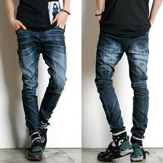 Remember Click Coated Faded Denim Jeans BLUE S M L Korean Wear #RememberClick #ClassicStraightLeg