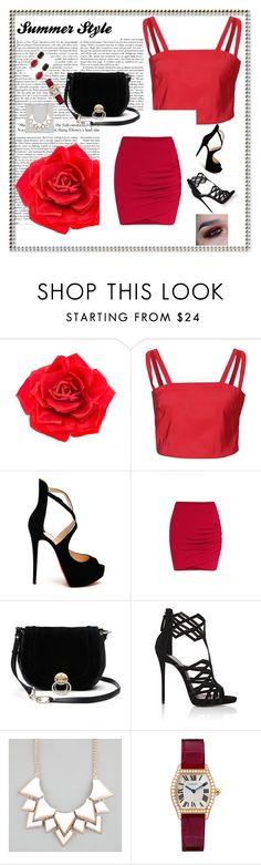 """'' Summer Ellegance ''"" by pepo-beckham ❤ liked on Polyvore featuring Johnny Loves Rosie, Funlayo Deri, Christian Louboutin, Diane Von Furstenberg, Giuseppe Zanotti, Full Tilt and 1st & Gorgeous by Carolee"