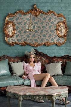 The Madonna Inn by Aaron Ruell for Paper Mag, mint green