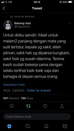 lockscreen self reminder indonesia islam Quotes Rindu, Story Quotes, Self Quotes, Tumblr Quotes, Tweet Quotes, Twitter Quotes, Instagram Quotes, Mood Quotes, Daily Quotes