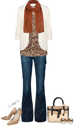 """""""Fall"""" by jill-hammel on Polyvore  seeing a lot of white blazers for fall...guess ok to keep wearing the whites for a while which means more outfit options in the closet."""