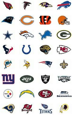 The NFL regular season kicks off every year as the summer winds down, and we head into September. The latest printable NFL schedules and TV schedules are Football Team Logos, Nfl Football Teams, Football Boys, Basketball Teams, Soccer Players, Sports Logos, Basketball Court, Football Icon, Football Stuff