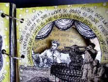 Altered journals/books examples from artist Ingrid Dijkers. The galleries are particularly interesting.