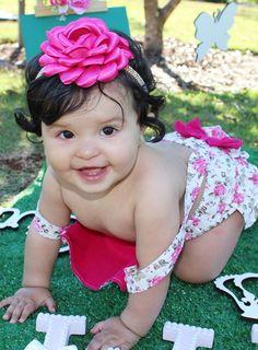 Faixa tiara para bebê