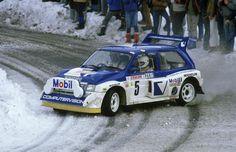 Tony Pond - Rob Arthur-54º Rallye Automobile de Monte-Carlo 1986. MG Metro 6R4. Retirado por accidente de tráfico fuera de tramo.