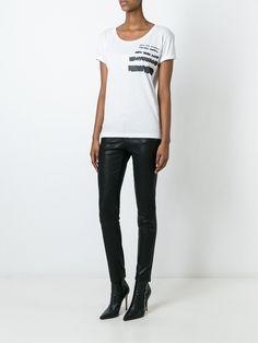 #saintlaurent #women #t-shirt #white #prints #newin #style www.jofre.eu
