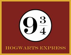 Harry Potter Hogwart's Express Poster Printable