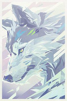 lobo en el hielo