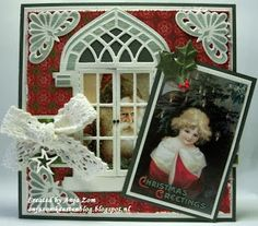 Anja Zom kaartenblog Window Cards, Marianne Design, Places To Visit, Joy, Windows, Christmas Ornaments, Craft, Holiday Decor, Home Decor