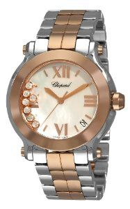 Chopard Women's 278488-9002 Happy Sport Two Tone Mother-Of-Pearl Watch