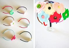 DIY Floral Headband Party Favors.  Love it for the little girls in my life.