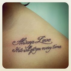 """""""Always love. Hate will get you every time."""""""