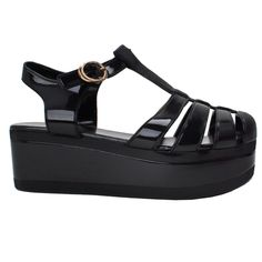 4fb51297b025 Nature Breeze Disco-01 New Women Summer T-Strap Retro Platform Jelly Rain  Sandal