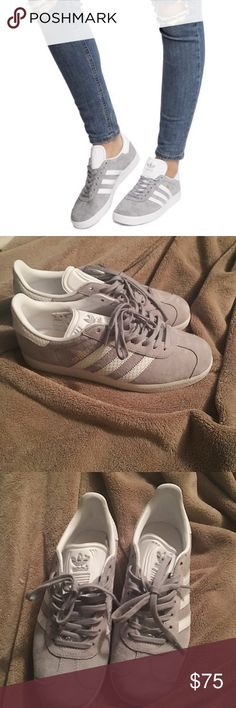 Women's Adidas Gazelle Grey. Size 6.5. Like new worn once. adidas Shoes Sneakers