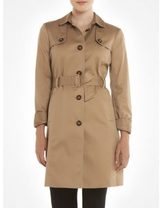 For a classic piece of outerwear that will be in style for years to come, opt for a neutral shade trench. Available at jacob.ca #RockThatCoat #Jacob