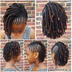 Braids For Short Hair Black Female New Natural Hairstyles - Natural Hair Styles Kids Braided Hairstyles, African Braids Hairstyles, Little Girl Hairstyles, Teenage Hairstyles, Casual Hairstyles, Natural Twist Hairstyles, Ladies Hairstyles, Hairstyles Haircuts, Natural Hair Braids