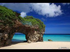 """""""Sunayama Beach"""" in Okinawa, Japan."""