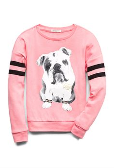 this should so be in my size!!  ..Coolest Bulldog Sweatshirt (Kids) | FOREVER21 girls Puppy love