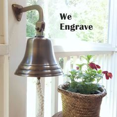 7 Inch Antiqued Brass Wall Bell - 5 pounds (Pre-Order)