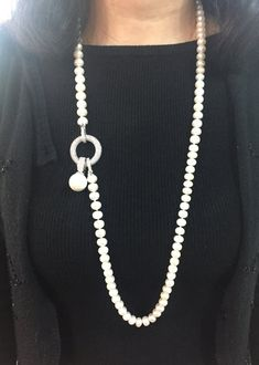Long pearl necklace, 9-10mm, Freshwater Pearl Necklace, ivory Pearl necklace CONSTRUCTION! -Closure is a large high quality silver plated lobster clasp. -Bracelet fits wrists from 7 with extender. can also custom with your own size. -Earrings if you need, we can custom for you together