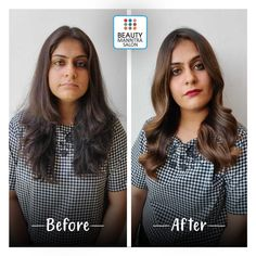 Hair color and styling can make someone look perfect. And we always thrive for the best hair styling session for our clients! Get yourself a trendy hair transformation from BeautyManntra Salon and flaunt yourself with style. For details call: 6354 689 Hair Transformation, Trendy Hairstyles, Haircolor, Salons, Hair Styles, How To Make, Beauty, Tops, Women