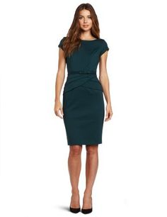 Evan Picone Women's Ponte Sleeve And Waist Detail Dress, Dark Peacock, 4 Evan Picone, http://www.amazon.com/dp/B008LRET5G/ref=cm_sw_r_pi_dp_JqMuqb14JENT5