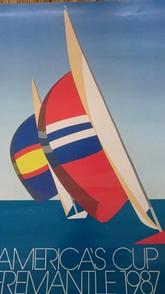 Retro America's Cup Fremantle 1987 Poster von Stewert Merrett, 1987 2