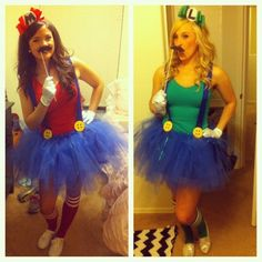 Mario and luigi for halloween...This is what my sister and I will be this year :)