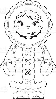 Colour In Eskimo Character royalty-free stock vector art Polo Norte, Eskimo, Clipart Black And White, Black White, Polar Animals, Free To Use Images, Christmas Coloring Pages, Winter Art, Free Vector Art