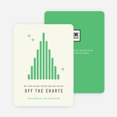 Off The Charts Corporate Holiday Cards | Paper Culture