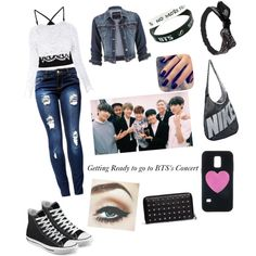 Going to BTS Concert by roslydragonfly on Polyvore featuring polyvore fashion style Stone_Cold_Fox Miss Selfridge maurices Converse Alexander McQueen NIKE Samsung Wet Seal Lottie