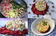Räucherforellen-Tartar auf Rote-Rüben-Puffer - Kubiena - Kochblog