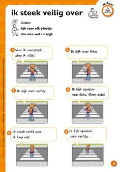 Ik steek veilig de straat over - veiligheid/verkeer @keireeen Skirt Mini, Primary School, Social Skills, Spelling, Transportation, Preschool, Bee, Classroom, Techno