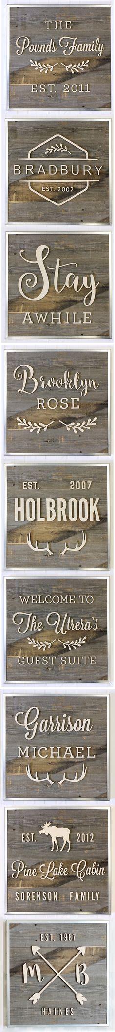 Personalized Reclaimed Wood Signs! Welcome Signs, Anniversary Signs, Wedding Signs, Nursery Signs! CraftCuts.com