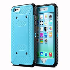 iPhone+6+case,+Ovis+Armor+Hybrid+Rugged+Shockproof+Case+Cover+For+iPhone+6+4.7″+–+Blue