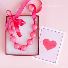 """Love this idea to do for a """"favor"""" for a girl's birthday party. bubblegum necklace!"""