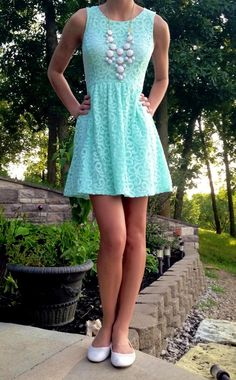 Dress: Forever 21, Necklace: Charlotte Russe, Shoes: H&M