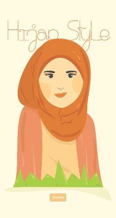 Ilustrasi caracter design hijab style :)