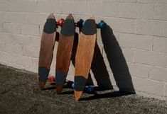 Erickson Longboards are Designed and Made from Reclaimed Wood #Skateboards #Sports