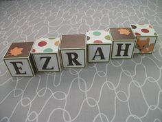 Baby Name Blocks - Fox