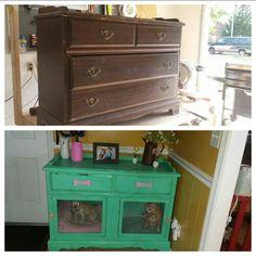 Old dresser turned into dog cage Online Pet Supplies, Dog Supplies, Rustic Renovations, Pet Washing Station, Diy Dog Kennel, Kennel Ideas, Pallet Dog House, Dog Crate Furniture, Dog Cages