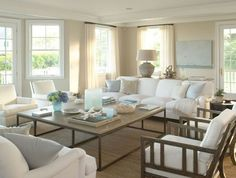 Beach house inspiration. Hamptons style lounge room