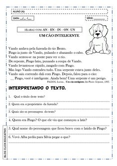Atividades de alfabetização para imprimir - Atividades de terceiro ano, matemática para imprimir, atividades pnaic Teaching Kids, Gabriel, English, Poetry Activities, Language Activities, Writing Activities, Creative Activities, School Secretary, Text Types
