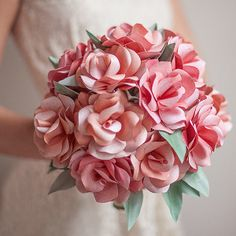 How to Make a Paper Rose Bouquet | AllFreeDIYWeddings.com