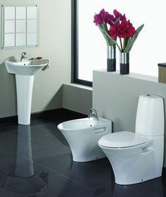 Contemporary bathroom suite.  http://www.worldstores.co.uk/p/Rak_Venture_Bath_Suite.htm