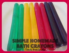 Homemade bath crayons~ Last minute stocking stuffer idea!!