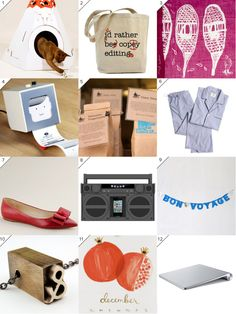Gifts for Creatives. I'd rather be copy editing...