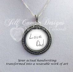 Actual Handwriting necklace  your Handwriting by NowThatsPersonal
