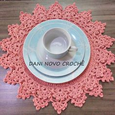 Crochet Table Runner, Napkins Set, Doilies, Table Runners, Knit Crochet, Coasters, Decorative Plates, Knitting, Free